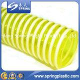 Tuyau flexible de spirale d'aspiration de l'eau de PVC de débit