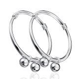 S999 de doble campana pulseras de plata de los niños y Anklets