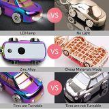 Liga original SUV do zinco que denomina o carro de metal leve Keychain do diodo emissor de luz com lanterna elétrica