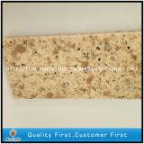 Кварц бежевых/желтого цвета искусственний каменный для плиток и настила
