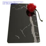 201 feuilles en acier inoxydable décoratif de couleur noire fini miroir 4X8