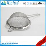 Tamis commercial d'écumoire d'acier inoxydable de vente chaude gros à maille fine avec le traitement de fil