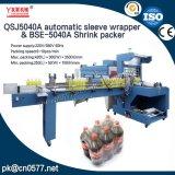 Envolvedor da luva (A)5040QSJ & Encolher máquina de embalagem para bebidas (BSE-5040A)