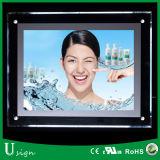 Étanche de la publicité de cristal en bordure de route Boîte à lumière signe à LED