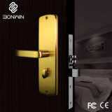 El recubrimiento PVD Aleación de zinc Hotel electrónicos de bloqueo de la empuñadura de la puerta de segura