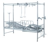 Orthopedic (Slv-B4024s)를 위한 3 Cranks Manual Care Hospital Medical Nursing Bed