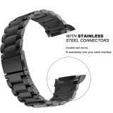 20mm de acero inoxidable tres cordón Enlaces Watch Band Marcha para Samsung S2