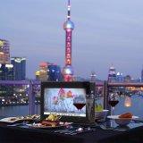 7 sostenedor WiFi del menú del vector de la pantalla de la pulgada HD que hace publicidad de las zonas de influencia para el cargador del restaurante y el salón de la cafetería de la barra