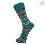 Patrón de bandas clásicas calcetín feliz