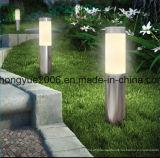 Lâmpada solar do jardim do aço inoxidável com o diodo emissor de luz do poder superior para a decoração do jardim