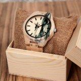 Relojes unisex baratos de madera hechos en el reloj de China