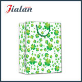 4 Leaf Clovers Design 4c Paper Printed Shopping Gift Bags