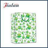 4つの葉のクローバーデザイン4cペーパー印刷された買物をするギフト袋