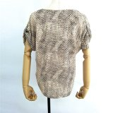 Großhandelsfrauen-Kleidung-spät gedruckte Entwurfs-Kurzschluss Sleevess Oberseiten