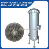 Custodia di filtro industriale dell'acqua del materiale dell'acciaio inossidabile 304 per le cartucce