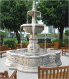 Tallado de estilo europeo, la artesanía de mármol blanco, fuente de agua, fuente de piedra de jardín en venta