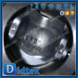 Vávula de bola neumática portuaria CF8 de Didtek V 4 pulgadas con el tipo de la oblea