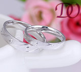 بالجملة [ودّينغ رينغ] 925 فضة مجوهرات حل لأنّ رجال ونساء