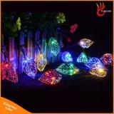 20 indicatori luminosi solari della stringa dei fogli del metallo del LED per l'albero del giardino