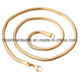 Redondo de acero inoxidable collar de cadena de la Serpiente