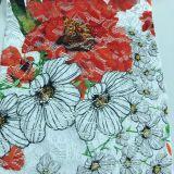 Laço do bordado com cópia da flor o outro projeto e cor