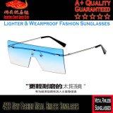 4233 lunettes de soleil sans monture en métal neuf de mode