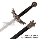 Decorazione HK677-1 della casa della decorazione di Swordtable di fantasia del cranio della spada del cranio