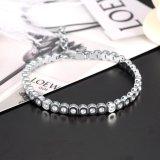 Le cristal de luxe de diamant d'acier inoxydable de mode lapide le bracelet pour des femmes
