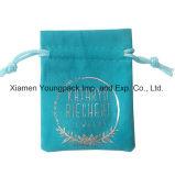 個人化された習慣によって印刷される小さく黒い昇進のギフト袋のビロードの袋