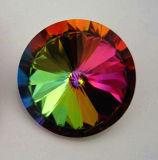 10mm 12mm Rivoli, el punto de cristal de atrás de la piedra de lujo