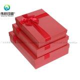 Rectángulo rojo de encargo de la impresión del papel de la cartulina para el regalo de boda