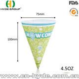 Cono de papel de un sólo recinto disponible/taza de papel del cono para el agua