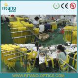 LC de Optische Adapters van de vezel met Plastic Blauw Huis voor 0.2dB Met beperkte verliezen