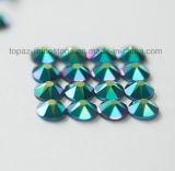 최고 빛나는 에메랄드 Ab Hotfix 유리제 모조 다이아몬드 편평한 뒤 모조 다이아몬드 (FB-27)를 비 자르는 2088 최고 Bling