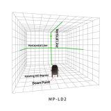 Les lignes lumineuses élevées de LD 2 verdissent le niveau de laser