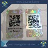 Barcode und Qr Code-Hologramm-Anti-Fälschenaufkleber