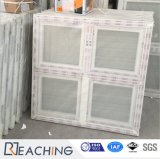 Het Frame UPVC voorzag de Deuren van het Glas met Dubbele Glans van een scharnier