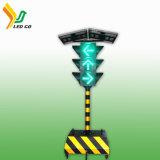 Mobiele Zonne de Aangedreven Aanhangwagen van LEIDENE van de Kleur van het Verkeer Vertoning 5 Vms Tekens, Vms Raad