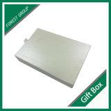 Rectángulo de regalo de papel impreso insignia de encargo de lujo de la cartulina