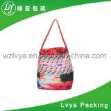 다채로운 고품질 큰 수용량에 의하여 주문을 받아서 만들어지는 선전용 화포 끈달린 가방, 면 쇼핑 백