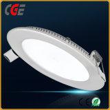 6W/9W/12W/15W/18W/24W Design ultraplat Embededled éclairage du panneau des feux de panneau à LED ronde