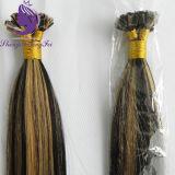 Il nero di colore di tono del piano due/estensione piana bionda dei capelli di punta (FT07)