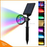 7 цветов солнечной лужайке светодиодный индикатор на улице в Саду светодиодный светильник