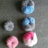 きれいなウサギの毛皮POMの球の卸売のギフト袋の魅力の毛皮