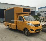 pequeño carro de la publicidad al aire libre de 3t Foton con la pantalla de HD LED