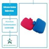 Подгонянная впрыска силиконовой резины отливая цветастую безосколочную сумку в форму