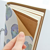 Cuaderno creativo de las hojas de ruta (traveler), cuaderno de encargo de la escuela del diario, papel de Kraft