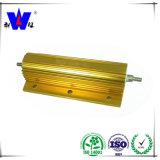 Rx24 힘 저항기 황금 알루미늄은 Wirewound 저항기를 수용했다