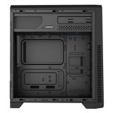 G561-F 1xusb3.0를 가진 까만 도박 컴퓨터 상자 Framless 가득 차있는 Windows 측면 판, Comine 및 3X 32LEDs 12cm 팬으로, 덮는 최고 PSU 주거