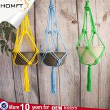 꽃 플랜트 Macrame 플랜트 걸이를 위한 DIY Handmade 선물